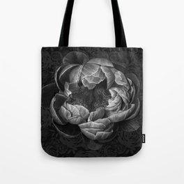 Moody Peony Tote Bag