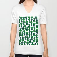 kodama V-neck T-shirts featuring Kodama  by pkarnold + The Cult Print Shop