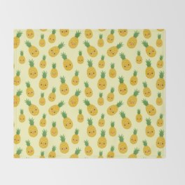 Pineapples Throw Blanket