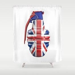 British grenade Shower Curtain