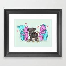 Single Bear Framed Art Print