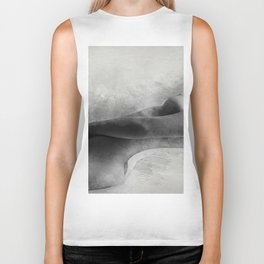 Time for Myself. Nude woman pencil and watercolor portrait Biker Tank