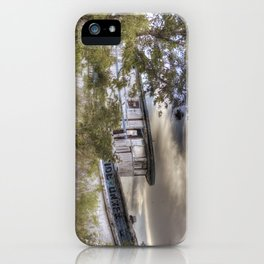 Shipwrecked at sunset iPhone Case