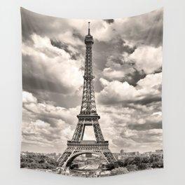 Eiffel Tower in sepia in Paris, France. Landmark in Europe Wall Tapestry