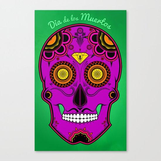 dia de los muertos (sugar skull) Canvas Print
