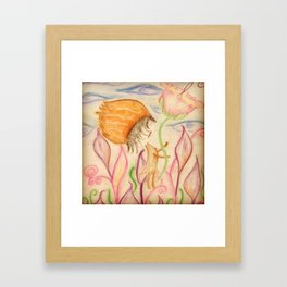 """""""When Your Not Looking"""" Framed Art Print"""