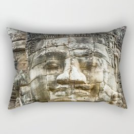 Bayon Temple, Angkor Thom, Cambodia Rectangular Pillow