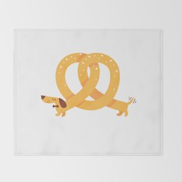 Pretzel Dog Throw Blanket