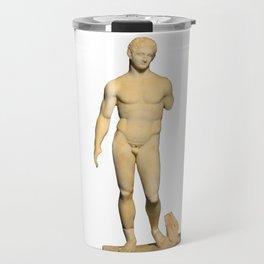 Marble Statue of Hercules Travel Mug