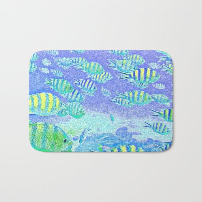 Pastel Fish Bath Mat
