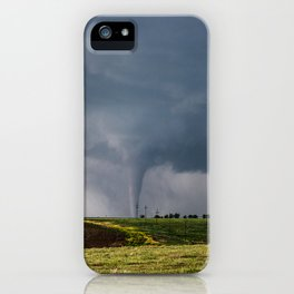 Twins - Two Tornadoes Touch Down Near Dodge City Kansas iPhone Case