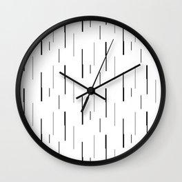 Thicks & Thins - Black Wall Clock