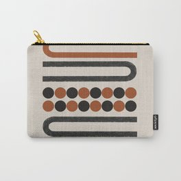 Abstract Modern Lines, Burnt Orange Art Carry-All Pouch