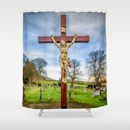 Jesus On The Cross Shower Curtain