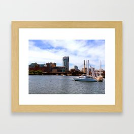 Boston Harbor, Boston, MA Framed Art Print