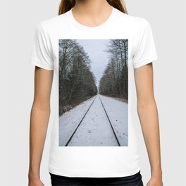 snowy tracks T-shirt