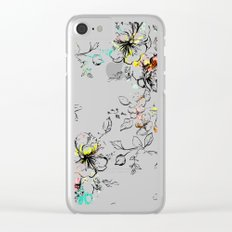 CAMP FLORAL Clear iPhone Case