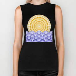 LIGHT OF DAWN (abstract tropical) Biker Tank