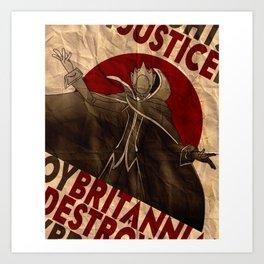 Code Geass | Zero | Justice will prevail Art Print