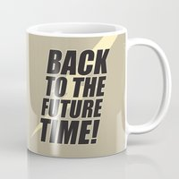 back to the future Mugs featuring Back to the Future by Unihorse