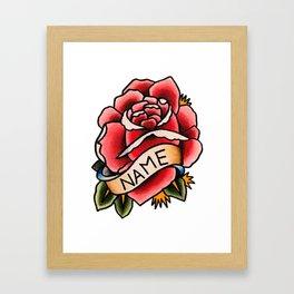 Name Rose Framed Art Print