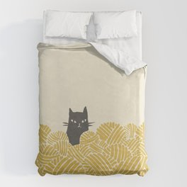 Cat and Yarn Duvet Cover