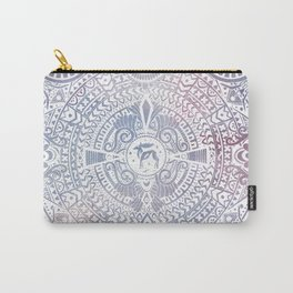 deer mandala (white) Carry-All Pouch