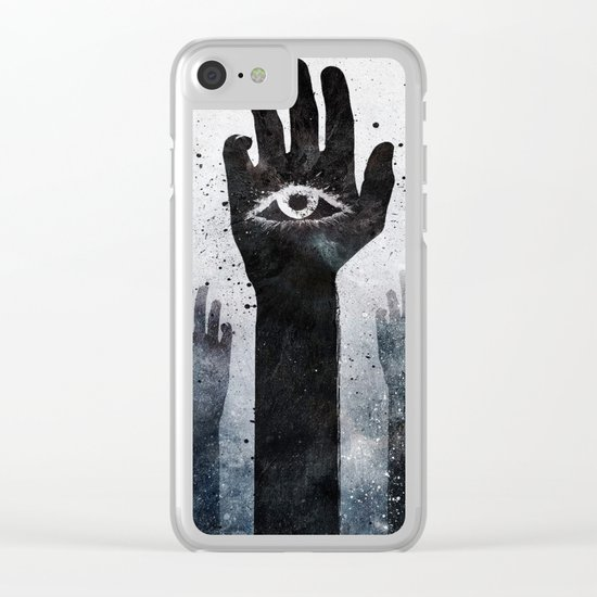 Hands & Eyes #Abstract Clear iPhone Case