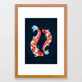 Lucky Koi Fish Framed Art Print