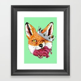 Queen Fox You Have My Heart Framed Art Print