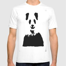 Pandas Blend into White Backgrounds Mens Fitted Tee White MEDIUM