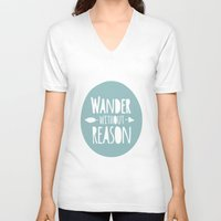 wander V-neck T-shirts featuring Wander by Zen and Chic