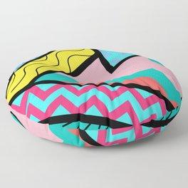 80s Memphis Design Pattern Floor Pillow