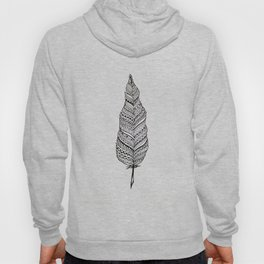 Aztec black and white feather Hoody