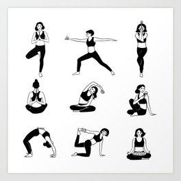 Yogavore - Pretzels and Namastes Art Print