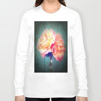vintage flowers Long Sleeve T-shirts featuring Vintage Flowers by 2sweet4words Designs