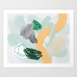 Tropical Mint Art Print