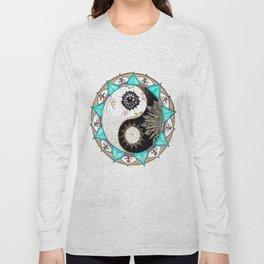 Yin and Yang Mandala Long Sleeve T-shirt