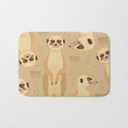 Meerkat, African Wildlife Bath Mat