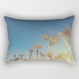 Palm Springs,California Palm Trees Sunburst Rectangular Pillow