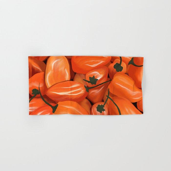 Habanero Peppers Hand & Bath Towel