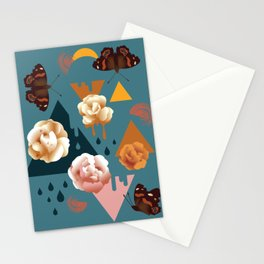 Flight of the Red Admiral Butterfly Stationery Cards