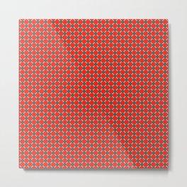 Red & Blue (II) and light peach Metal Print
