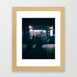 One cold night Framed Art Print