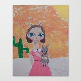~ Javelina ~ 10 Year Old Amelia's Arizona Critter Girl Canvas Print