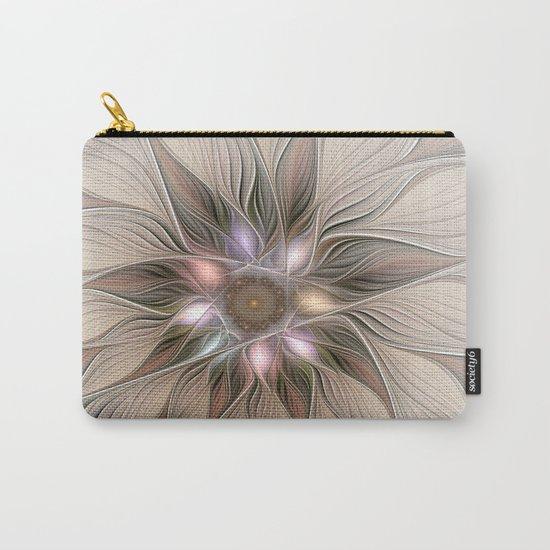 Joyful Flower, Abstract Fractal Art Carry-All Pouch