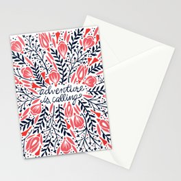 Adventure is Calling – Red & Black Palette Stationery Cards