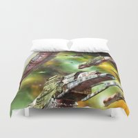 ships Duvet Covers featuring Space Ships Fantasy by FantasyArtDesigns