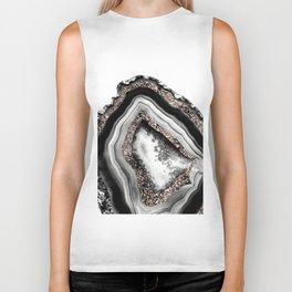 Agate Rose Gold Glitter Glam #4 #gem #decor #art #society6 Biker Tank