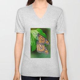 Monarch butterflies Unisex V-Neck